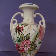 Lovely Blue Ridge,Nove Rose, Handled Vase