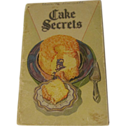 1928 Cake Secrets Cook Book,Swans Down Kitchen