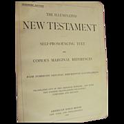 1898 Illuminated New Testament, Teachers Edition,American Bible House