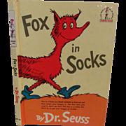 SOLD 1965 Dr Seuss, Fox in Socks