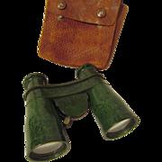 Bakelite Biascope Wollensak Binoculars with Leather Case