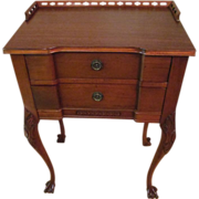Mahogany Galley Top Table, Paw Feet