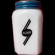 SOLD Vintage McKee Swooped Badge Milk Glass Flour Shaker