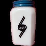SOLD Vintage McKee Swooped Badge Milk Glass Sugar Shaker