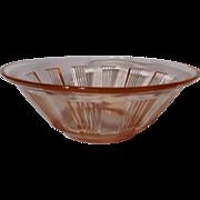 SOLD Hazel Atlas Pink Kellogg's Wagon Wheel Depression Glass Bowl