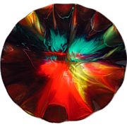 Large Seetusee Glass Ruffled Bowl - Model M51