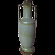 Vintage Frankoma 20 Strap Handle Bud Vase - Woodland Moss