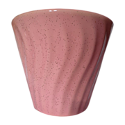 Bauer Pottery 1950's Pink Speckled Swirl Planter Pot
