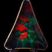 Seetusee Potpourri Triangular Art Glass Dish