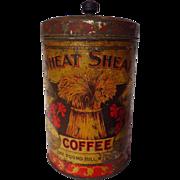 Vintage Wheat Sheaf Coffee One Pound Tin