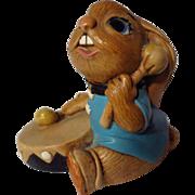 PenDelfin Stoneware Rabbit Bongo With Box