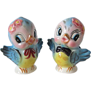 Adorable Lefton Bluebird Salt and Pepper Shakers #7176