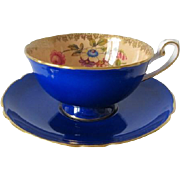 Shelley Cobalt Blue Tea Cup and Saucer