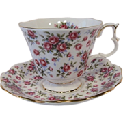 "Royal Albert Nell Gwynne Series ""CHELSEA"" Tea Cup Set"