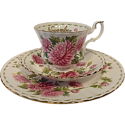 "Royal Albert NOVEMBER Flower of the Month Series ""CHRYSANTHEMUM"" Trio"