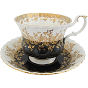 Royal Albert Regal Series Black Tea Cup and Saucer