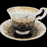 Royal Albert Regal Series Black Tea Cup and Saucer