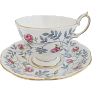 Vintage Royal Albert CONWAY Patterned Tea Cup and Saucer