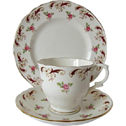 Crown Staffordshire WENTWORTH Pattern Trio