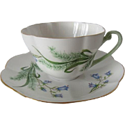 Shelley Harebell & Grasses Tea Cup and Saucer