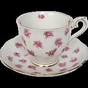 Earlier Royal Albert Tea Cup & Saucer with Pink Rose Buds