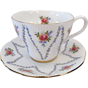 Royal Albert MINUET Patterned Dainty Tea Cup & Saucer