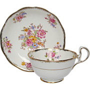 "Vintage Royal Albert ""Georgina"" Pattern Tea Cup & Saucer"
