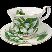Royal Albert TRILLIUM pattern Tea Cup & Saucer