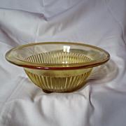 Depression Era Federal Glass Amber Mixing Bowl