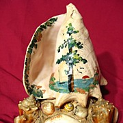 Vintage 1930's Hand Decorated Seashell Lamp
