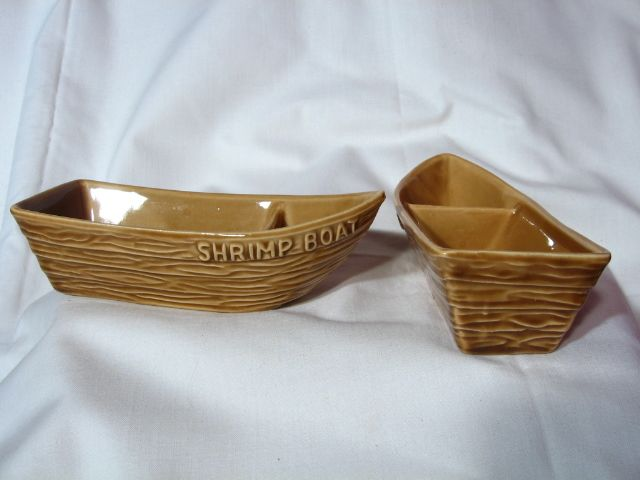 Red Wing Pottery For Aloa Corp. Shrimp Boat