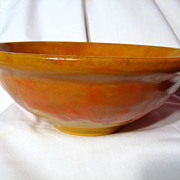 Blue Mountain Pottery Mustard And Ketchup Large Fruit Bowl