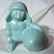 Royal Haeger Baby With Football Planter