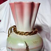 Hollywood Regency Italian Art Pottery Luster Vase