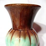 Early German Art Pottery Melon Vase