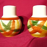 Vernon Kilns Homespun Salt & Pepper Shaker Set