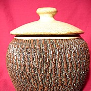 SOLD Russ Baldwin ~ Enfin Pottery Covered Canister