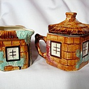 Keele Street Pottery Cottage Ware Creamer & Covered Sugar