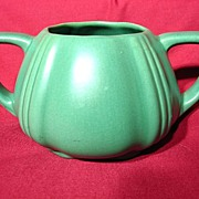 SALE Vintage 1930's Padre Matte Green Double Handled Vase