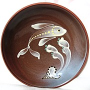 Lamorna Studio Pottery Cornwall Fish Dish