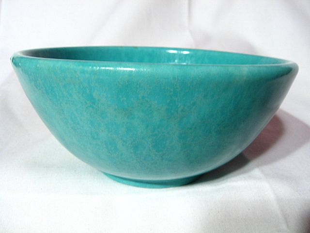 Red Wing Gypsy Trail Hostess Ware Turquoise Small Salad Bowl