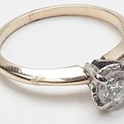 Vintage 14 Karat Gold Diamond Engagement Ring Fine Jewelry