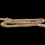 Antique Victorian 9 Karat Rose Gold Albert Chain Watch Fob Fine Vintage Jewelry
