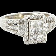 Estate 10 Karat White Gold 1 Carat Diamond Ring Fine Jewelry Pre-Owned