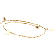 Vintage 14 Karat Yellow Gold Moon Star Planet Celestial Ankle Anklet Bracelet Estate Jewelry