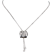 Pasquale Bruni Amore Diamond 18k White Gold Necklace Love Celestial Moon Star