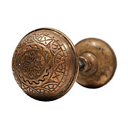 "Lovely Antique Cast Bronze ""Windsor"" Door Knob Sets by Reading Hardware, Aesthetic Movement"