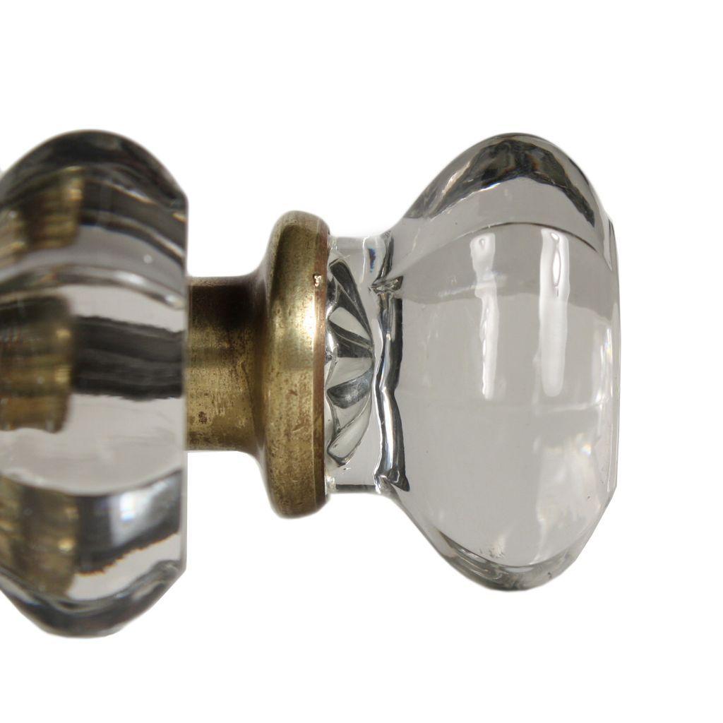 antique octagonal glass door knob set from preservationstation on ruby lane. Black Bedroom Furniture Sets. Home Design Ideas