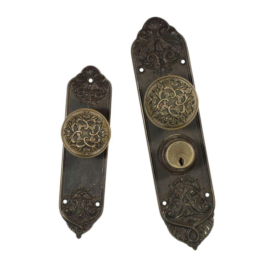 Beautiful Antique Baltic Exterior Door Hardware Set By Barrows Lock From Pr
