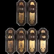 Wonderful Antique Brass Door Hardware Sets, Early 1900's